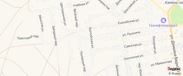 Балтийская улица на карте Камня-на-Оби с номерами домов