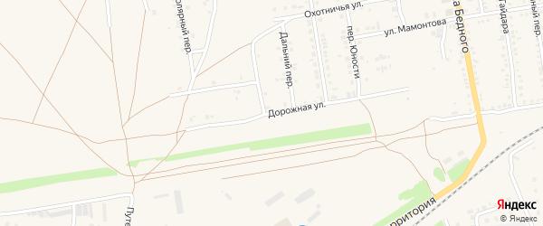 Дорожная улица на карте Камня-на-Оби с номерами домов