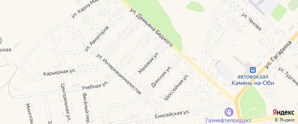 Маховая улица на карте Камня-на-Оби с номерами домов