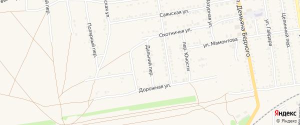 Дальний переулок на карте Камня-на-Оби с номерами домов