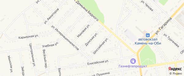 Донская улица на карте Камня-на-Оби с номерами домов