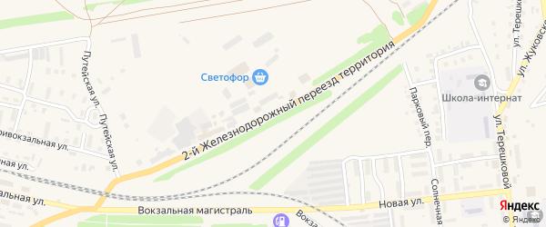 Территория 2-й ж/д переезд на карте Камня-на-Оби с номерами домов