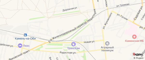 Территория Сдт Урожайный на карте Камня-на-Оби с номерами домов
