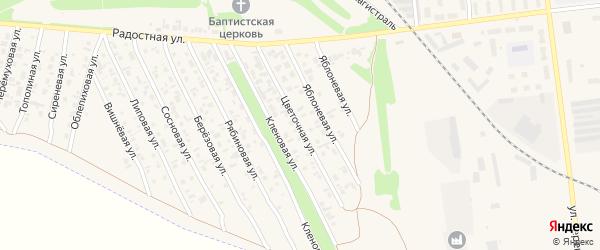 Цветочная улица на карте Камня-на-Оби с номерами домов