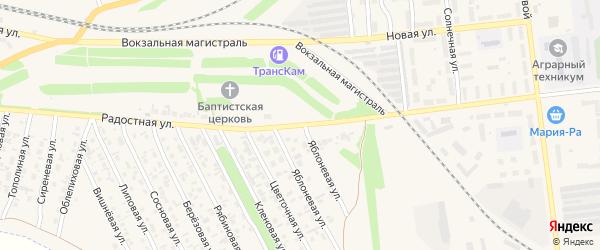 Радостная улица на карте Камня-на-Оби с номерами домов
