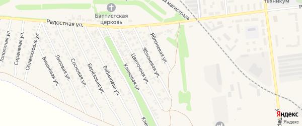 Яблоневая улица на карте Камня-на-Оби с номерами домов