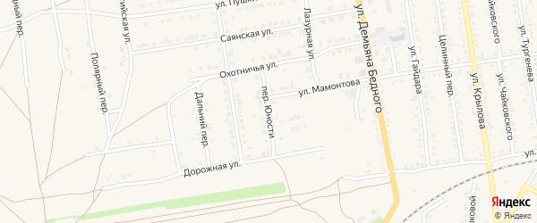 Переулок Юности на карте Камня-на-Оби с номерами домов