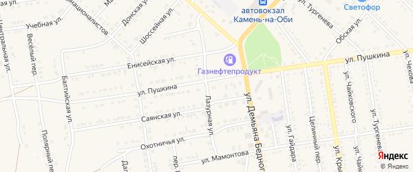 Лазурная улица на карте Камня-на-Оби с номерами домов