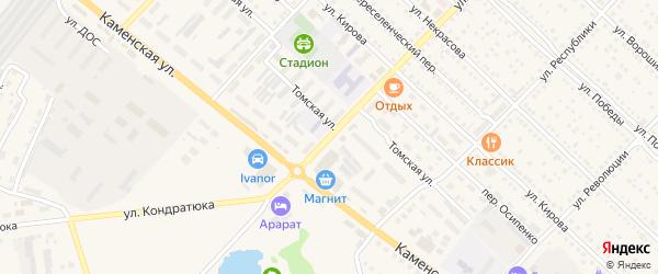 Улица Карла Маркса на карте Камня-на-Оби с номерами домов