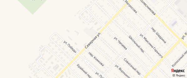 Северная улица на карте Камня-на-Оби с номерами домов