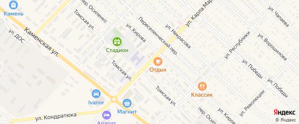 Переулок Осипенко на карте Камня-на-Оби с номерами домов