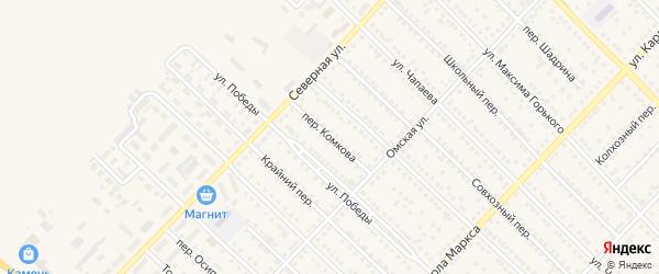 Переулок Комкова на карте Камня-на-Оби с номерами домов
