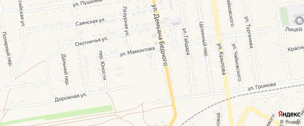 Улица Мостостроителей на карте Камня-на-Оби с номерами домов