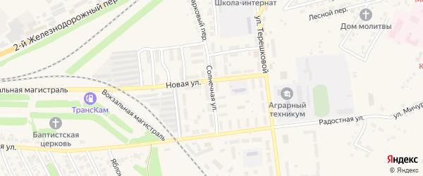 Солнечная улица на карте Камня-на-Оби с номерами домов