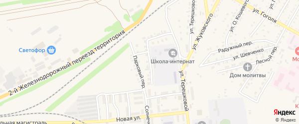 Парковый переулок на карте Камня-на-Оби с номерами домов