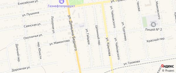 Улица Гайдара на карте Камня-на-Оби с номерами домов