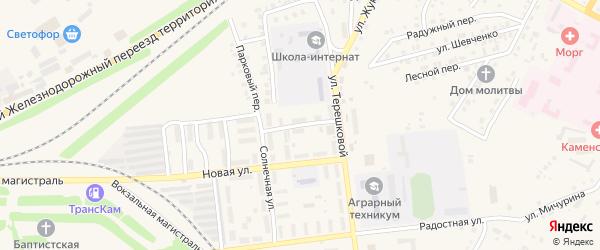 Переулок Кузнецова на карте Камня-на-Оби с номерами домов