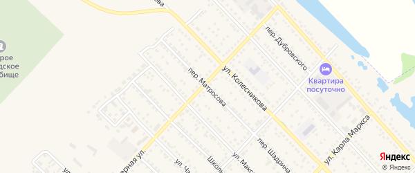 Переулок Матросова на карте Камня-на-Оби с номерами домов