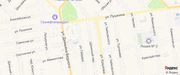 Целинный переулок на карте Камня-на-Оби с номерами домов