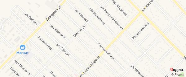 Совхозный переулок на карте Камня-на-Оби с номерами домов