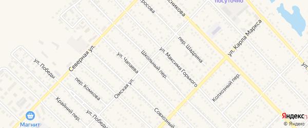 Школьный переулок на карте Камня-на-Оби с номерами домов