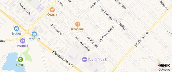 Улица Кирова на карте Камня-на-Оби с номерами домов