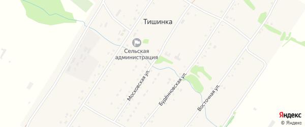 Московская улица на карте села Тишинки с номерами домов
