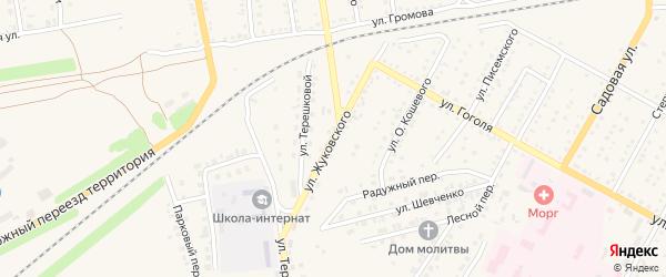 Улица Жуковского на карте Камня-на-Оби с номерами домов