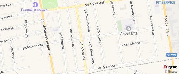 Улица Мамонтова на карте Камня-на-Оби с номерами домов