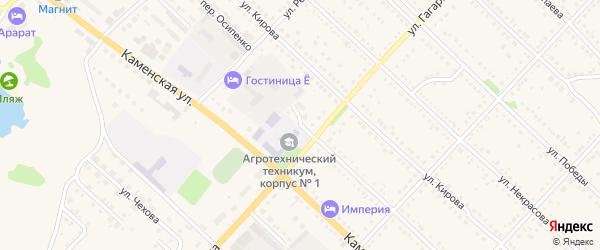 Томская улица на карте Камня-на-Оби с номерами домов