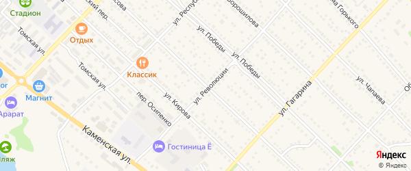 Улица Некрасова на карте Камня-на-Оби с номерами домов