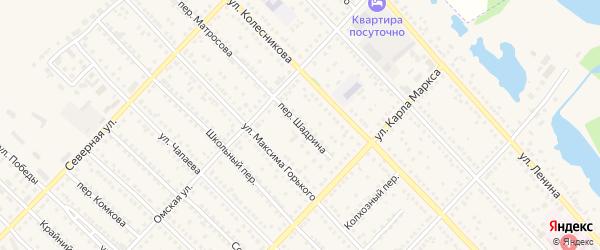 Переулок Шадрина на карте Камня-на-Оби с номерами домов