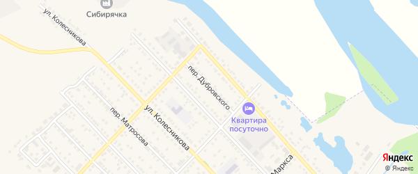 Переулок Дубровского на карте Камня-на-Оби с номерами домов