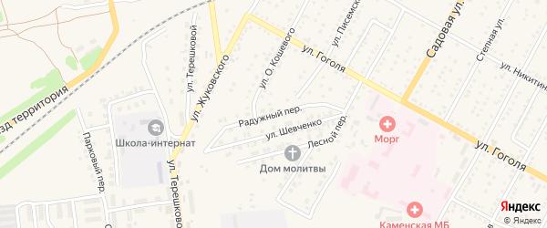 Радужный переулок на карте Камня-на-Оби с номерами домов