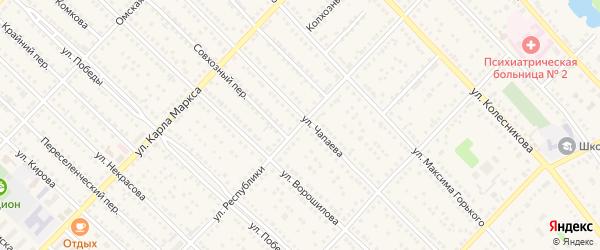 Улица Республики на карте Камня-на-Оби с номерами домов