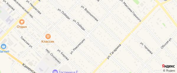 Улица Победы на карте Камня-на-Оби с номерами домов