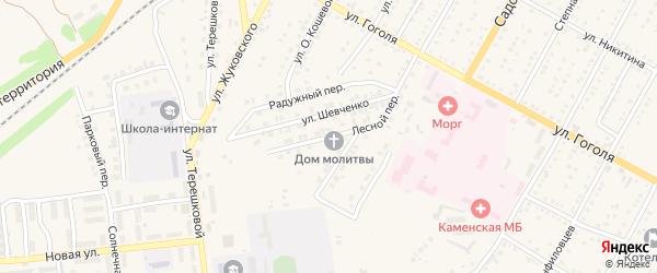 Лесная улица на карте Ветренно-Телеутского села с номерами домов