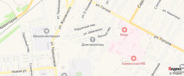 Лесной переулок на карте Камня-на-Оби с номерами домов