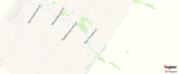 Восточная улица на карте села Тишинки с номерами домов
