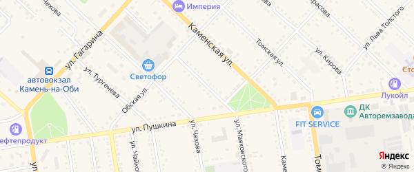 Улица Маяковского на карте Камня-на-Оби с номерами домов