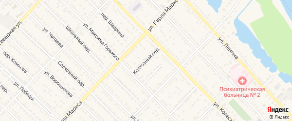 Колхозный переулок на карте Камня-на-Оби с номерами домов