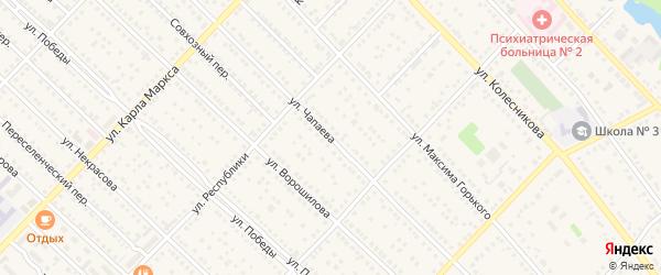 Улица Чапаева на карте Камня-на-Оби с номерами домов