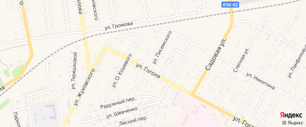 Улица Писемского на карте Камня-на-Оби с номерами домов