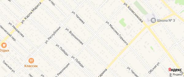 Улица Революции на карте Камня-на-Оби с номерами домов