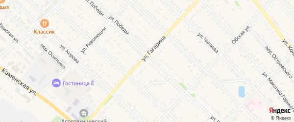 Улица Гагарина на карте Камня-на-Оби с номерами домов