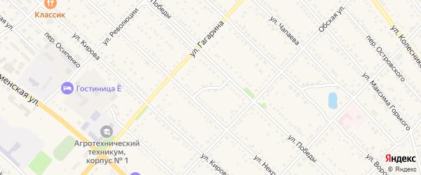 Переулок Суворова на карте Камня-на-Оби с номерами домов