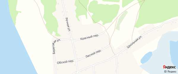 Красный переулок на карте села Дресвянки с номерами домов