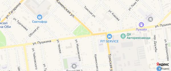 Улица Пушкина на карте Камня-на-Оби с номерами домов