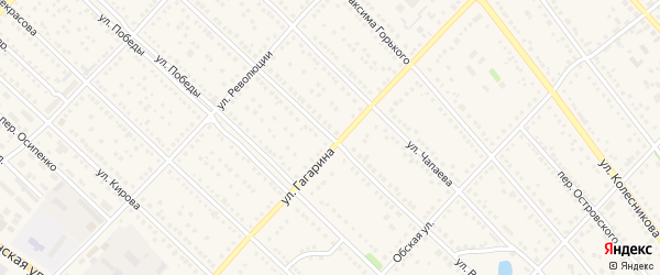 Улица Ворошилова на карте Камня-на-Оби с номерами домов