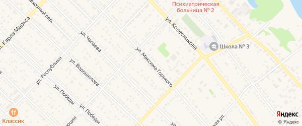 Улица М.Горького на карте Камня-на-Оби с номерами домов